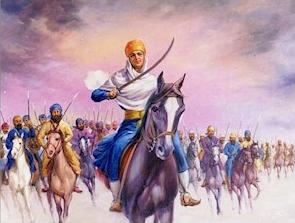 sikh warrior painting